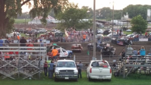 Demo Derby at the Nance County Fair